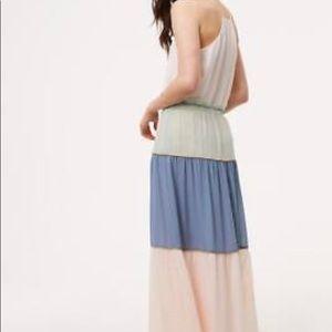 1d6fdffc89 LOFT Skirts | Ann Taylor Tasseled Blue Tiered Maxi Skirt | Poshmark